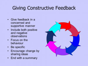 how to give effective and constructive feedback