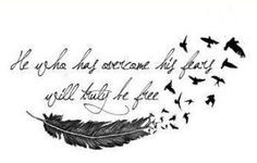 Tattoos About Overcoming Depression Like. he who has overcome his