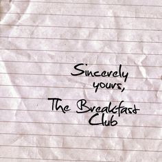 The BREAKFAST CLUB - BENDER