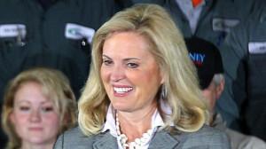 carrying Ann Romney , Republican presidential nominee Mitt Romney ...