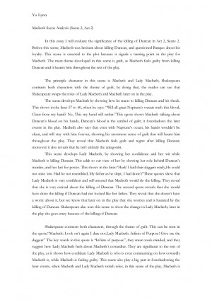 essays on william duncan Essay writing guide she approaches macbeth with the idea that she wants to kill king duncan macbeth, although wanting the prophecy to come true, and become king analyse and compare two scenes in william shakespeare's macbeth that show the audience the change in the balance of power.