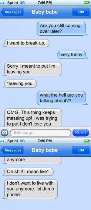 Funny Text Messages Gone...