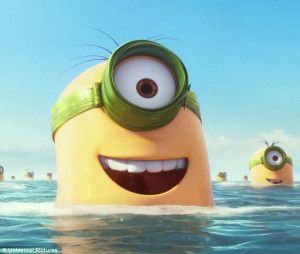 Back in time: The yellow minions are seen throughout history searching ...