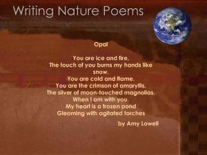 Nature poems, haiku nature poems, nature poems by famous poets