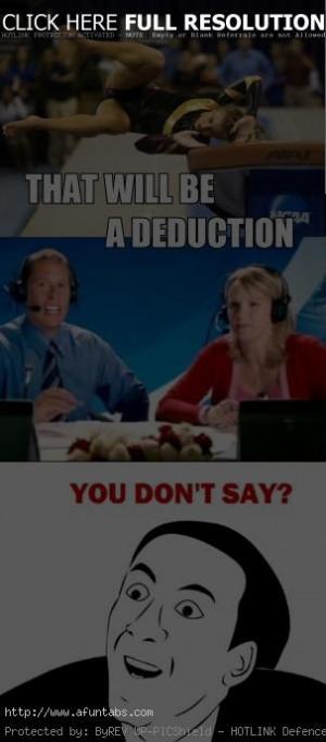 Funny Gymnastics Meme : Gymnastics quotes funny mom quotesgram