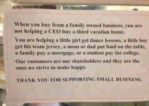 Support local, small businesses.