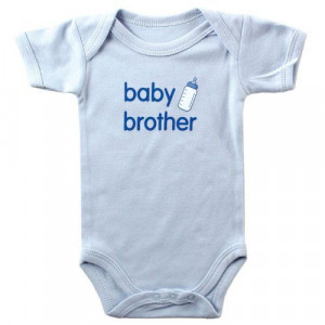 Baby Sayings Bodysuit - Baby Brother 6-9 months