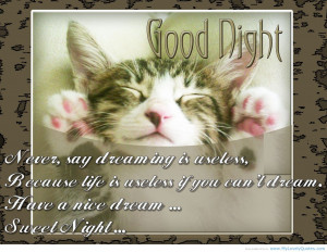 Good night – Life for him quotes