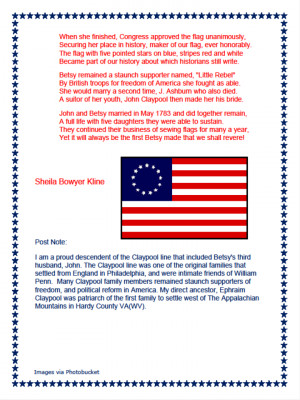 Betsy Ross We Honor You~ A Flag Day Write