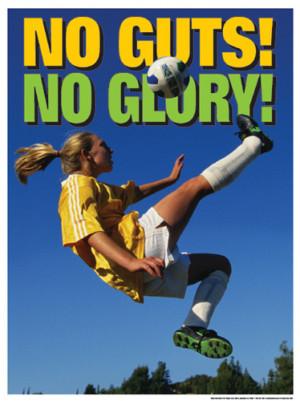 Achievement Women Soccer Action Poster Motivational Inspirational
