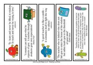 Teacher Quotes Bookmarks