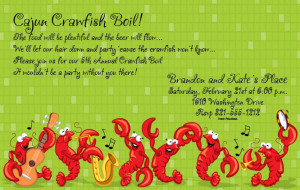 Crawfish Fun Digital Invitation - This fun Crawfish invitation is ...