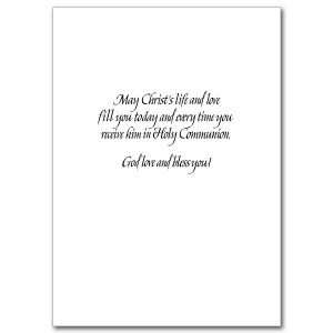 First Holy Communion For Bible Quotes