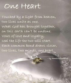 One Heart - an original wedding poem written by Pamela Randolph ...