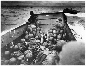 These guys are the first batch to disembark on Omaha beach. No wonder ...