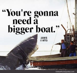 Quote from the 3 time Oscar winner Jaws (1975)
