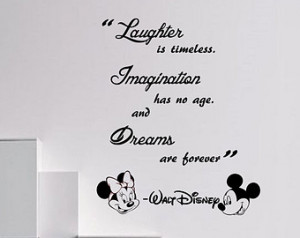 ... is timeless Wall Quote Mickey Minnie vinyl decal Stickers kids room