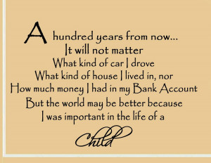 Hundred Years From Now Quote