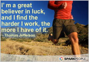 Motivational Quote - I'm a great believer in luck, and I find the ...