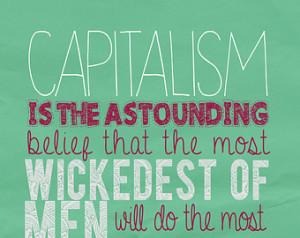 Anti Capitalist economics poster: J ohn Maynard Keynes quote print ...