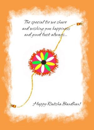 ... And Wishing You Happiness And Good Luck Always Happy Raksha Bandhan
