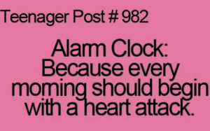 funny, heart attack, lol, quote, teenage post, true story