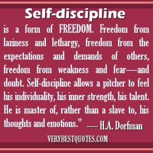 Self-Discipline Quotes -