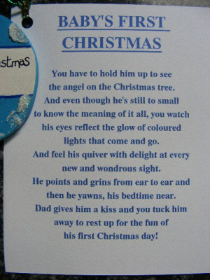 baby's first christmas ornament poem
