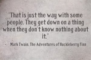 The Adventures of Huckleberry Finn: A Bildungsroman Through and Through
