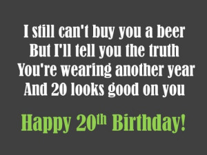 My 20th Birthday Quotes Happy 20th birthday wishes