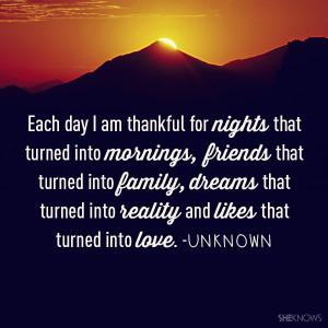 Thankful For Friends And Family ~ Being Thankful For Family Quotes ...