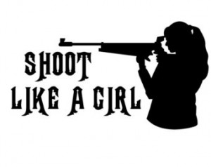 Shoot Like a Girl Hunter Sticker , Girl Hunting Decal ...