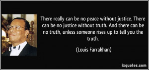 Quotes Truth And Justice ~ There really can be no peace without ...