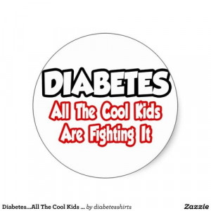 Diabetes. Such an uplifting way of thinking!