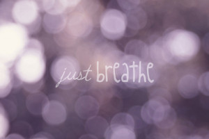 photography quote beautiful purple bokeh breathe just just breathe ...