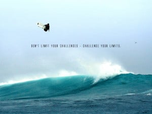 Wallpaper: Quotes-Limit Your Challenges wallpaper