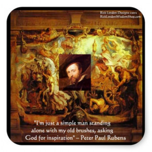 Peter Paul Rubens Art & Quote Gifts & Cards Square Stickers