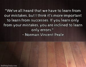 Learning from Our Mistakes: Turning a Very Old Adage on its Very Old ...