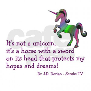 scrubs_unicorn_quotes_modern_wall_clock.jpg?color=Silver&height=460 ...