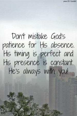 God's perfect timing :)