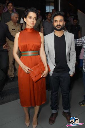 Kangana Ranaut and Vir Das at promotion of Revolver Rani in Noida