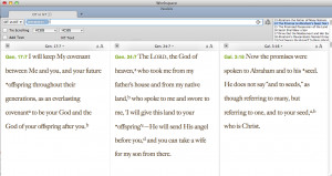 Old Testament in New Testament Parallel (not for iOS) is included with ...
