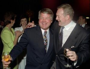 Feb. 1, 1992 file photo shows Dallas Cowboys head coach Jimmy Johnson ...