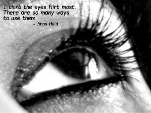 Think The Eyes Flirt Most