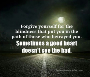 forgive myself..