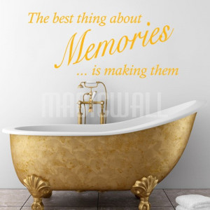 Home » Best Thing About Memories - Wall Quotes - Wall Decals Stickers