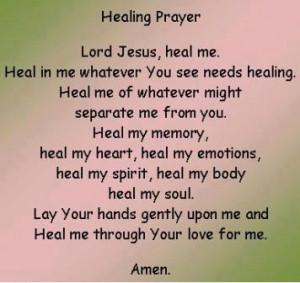 The Healing Prayer