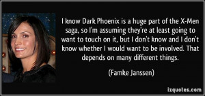 know Dark Phoenix is a huge part of the X-Men saga, so I'm assuming ...