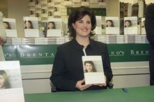 Monica Lewinsky Displays a Copy of Her Book