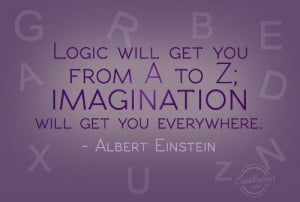 Imagination Quote: Logic will get you from A to... Imagination-(4)